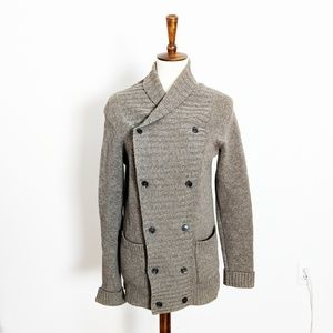 All Saints Ryger Lambswool Double Button Cardigan